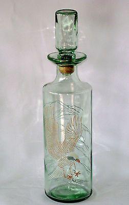 Decanter Old Fitzgerald Prime American Eagle Green Tint Bottle Liquor 4/5 Qt Vtg
