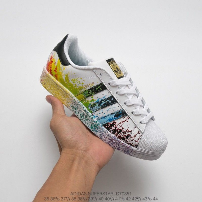Adidas Superstar Paint Splash Stripes