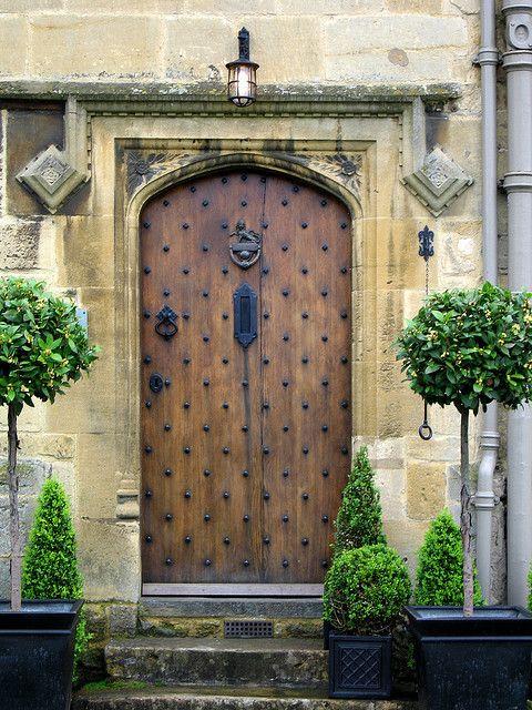 Cotswolds old English Door by Ðariusz on Flickr.   Doors, knobs ...