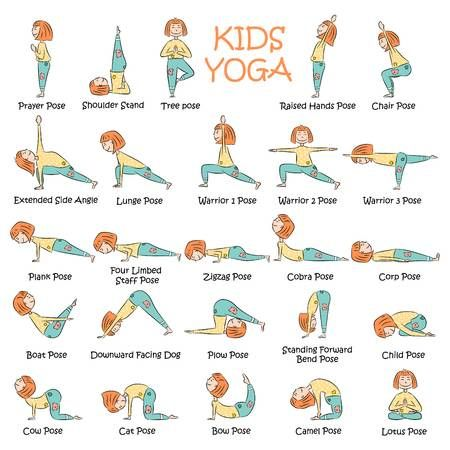yoga kids set gymnastics for children and healthy