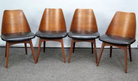Set Of 4 Mid Century Foster Mcdavid Chairs Retro Home Chair