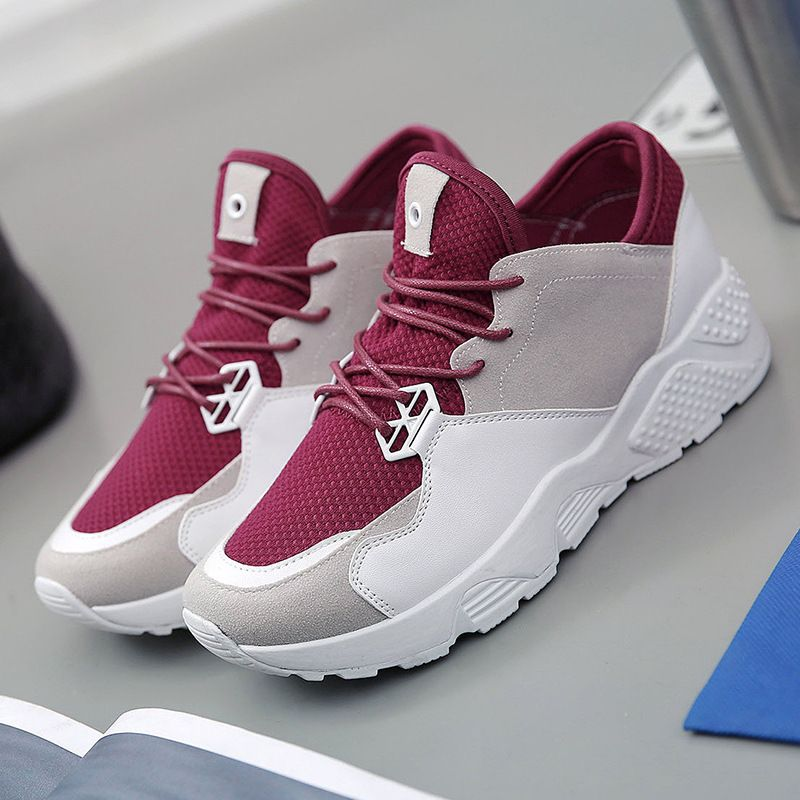 Women Casual Lace-up Mesh Breathable Sports Running Muffin Shoes Fashion Sneaker