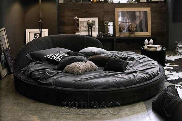 Looks so Comfy. Jazz Designer Round Leather Bed by Gamma