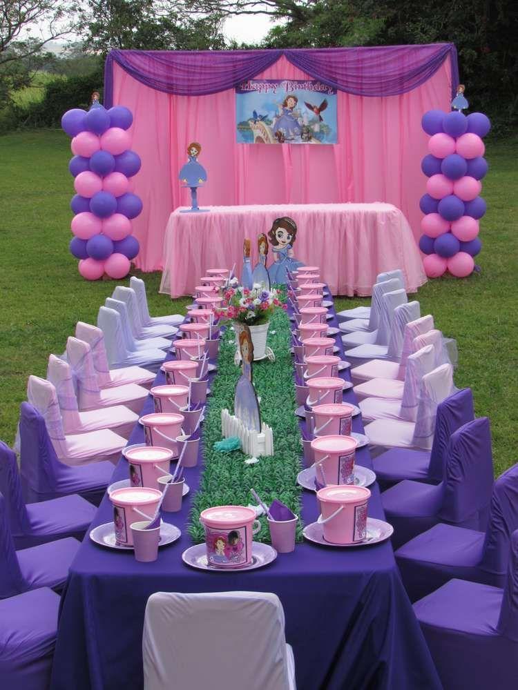 Princess Sofia Birthday Party Ideas Photo 2 Of 8 Princess Sofia Birthday Party Ideas First Birthday Party Decorations Sophia Birthday Party