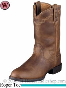 0416cdfe6d57a Women's Ariat Heritage Distressed Brown Roper Boots 10000797 ...