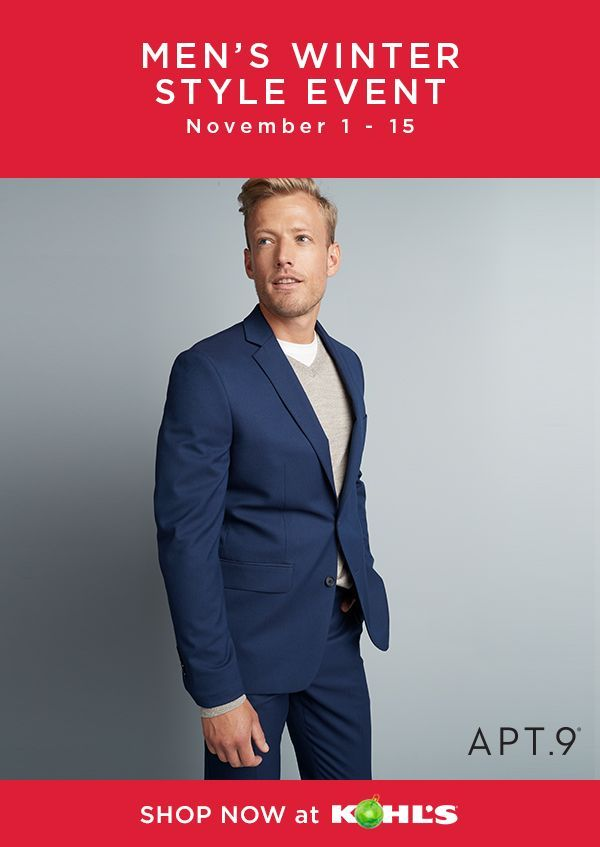 c791400eb8e Shop the Men s Winter Style Event at Kohl s and stock up on style that  suits you! November 1-15