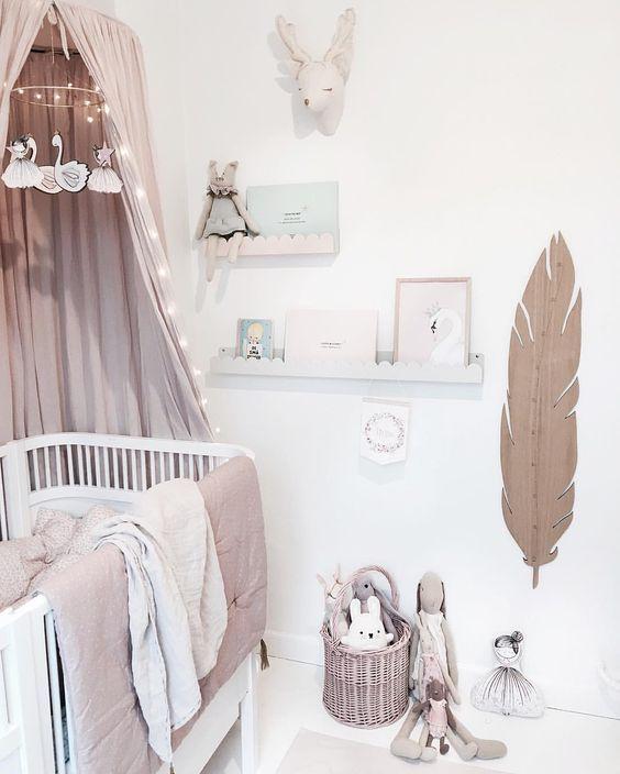 deco-chambre-bebe-fillejpg 564 × 704 pixels Kids Pinterest
