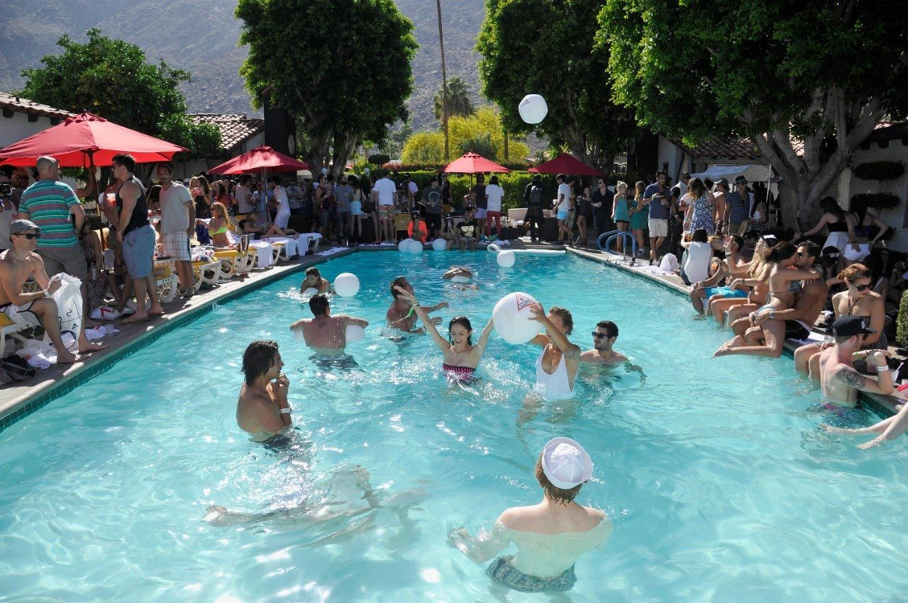 Adult pool party games