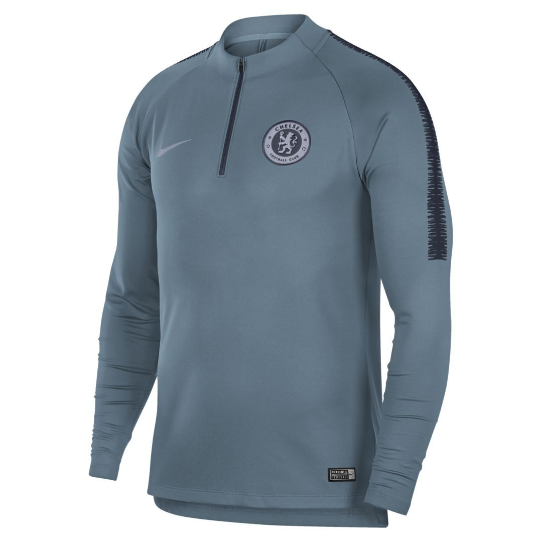 ef426951594d Chelsea FC Dri-FIT Squad Drill Men s Long Sleeve Soccer Top Size 2XL  (Celestial Teal)