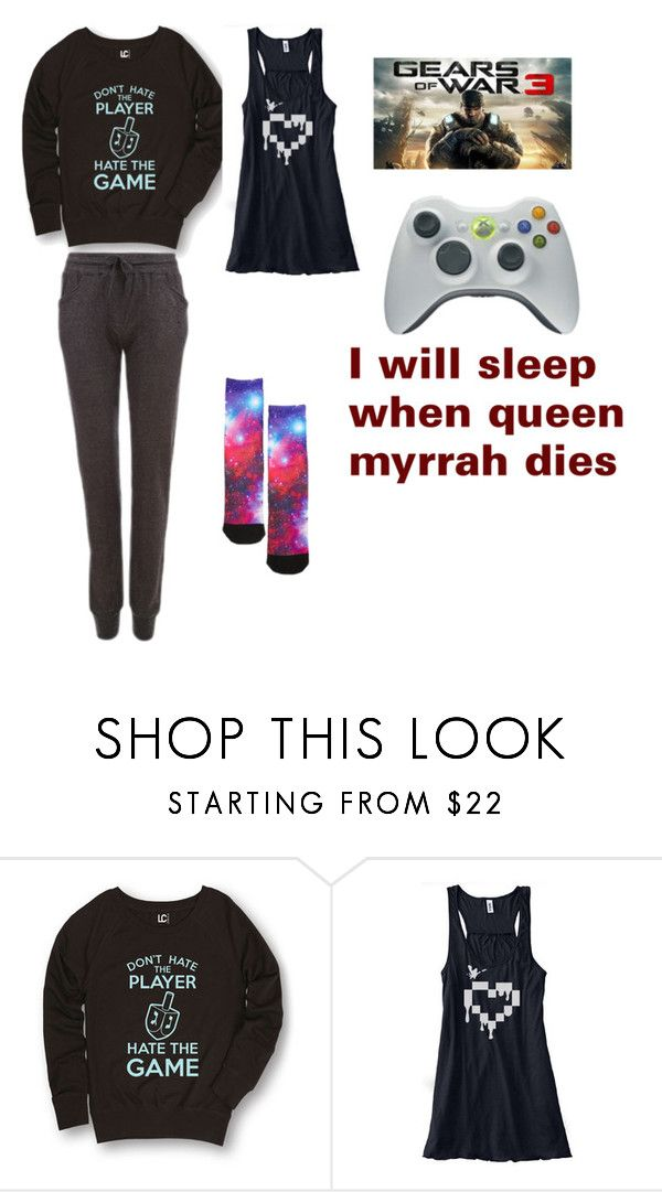 """""""gamer girl"""" by candysmash6252 on Polyvore featuring Majestic Filatures and Nuevo"""