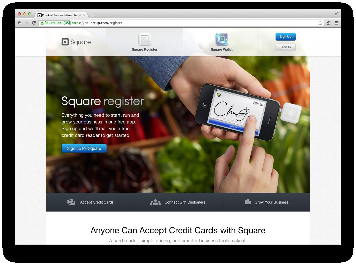Credit card readers, Free