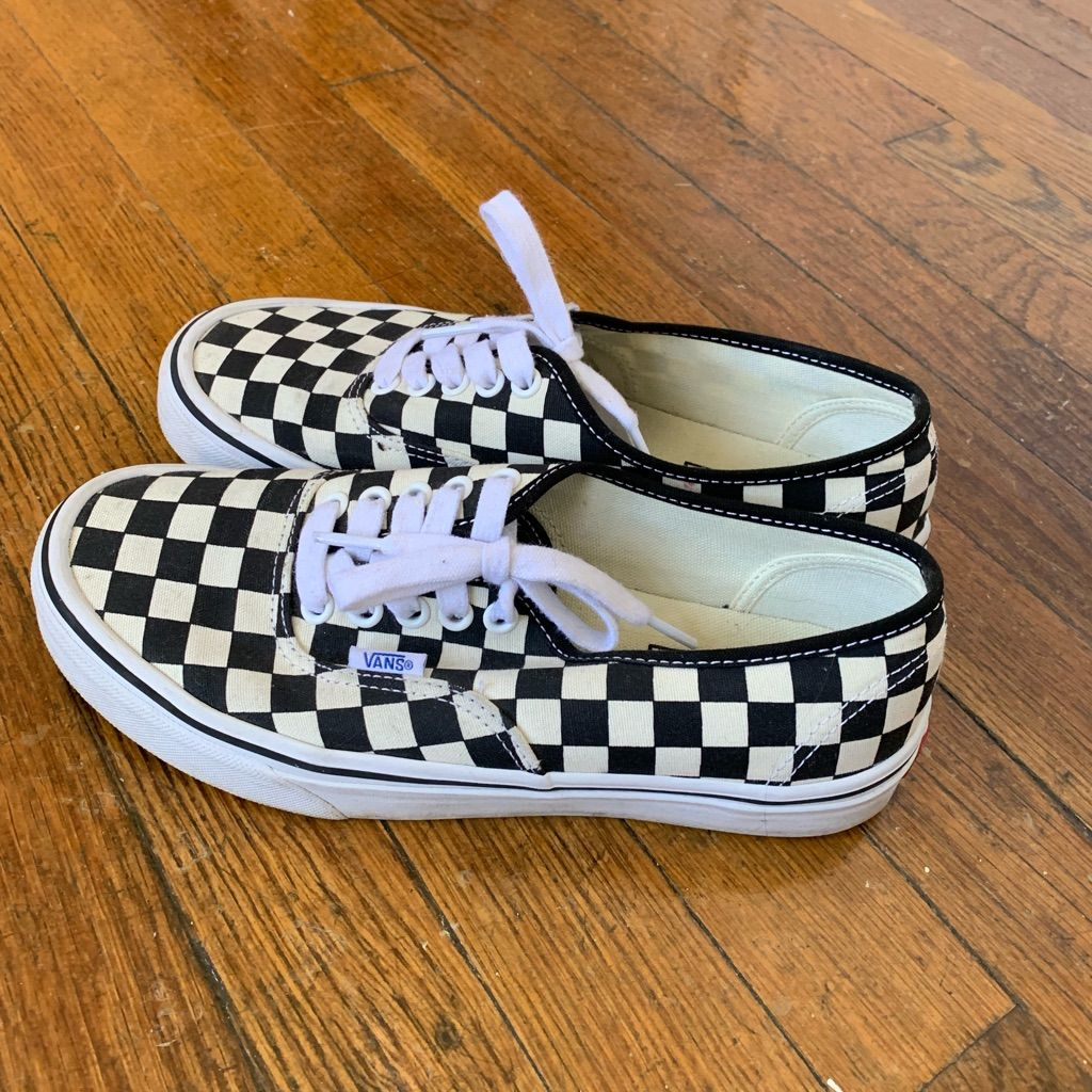 Vans Checkered Shoes (Size 8 women's