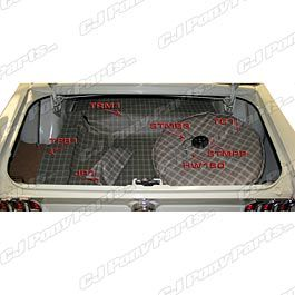 Trunk Mat Kit Plaid Mustang Convertible Coupe 1965 1966 Mustang Convertible Coupe Mustang