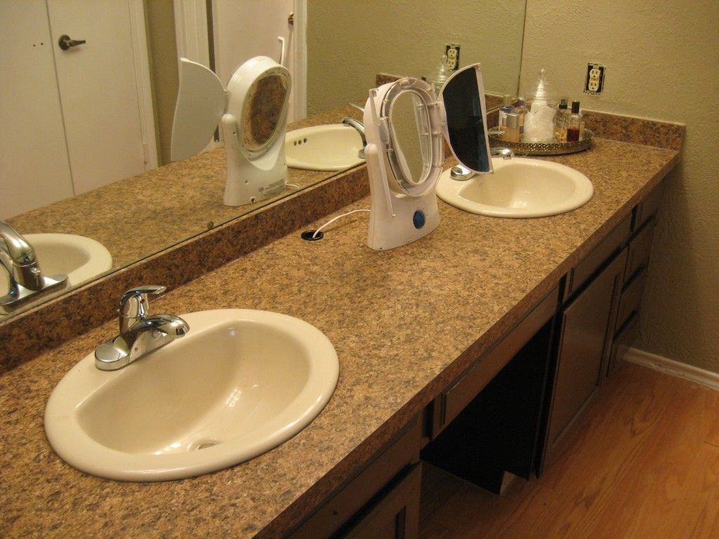 How to take off an old bathroom laminate countertop and install a new one read more