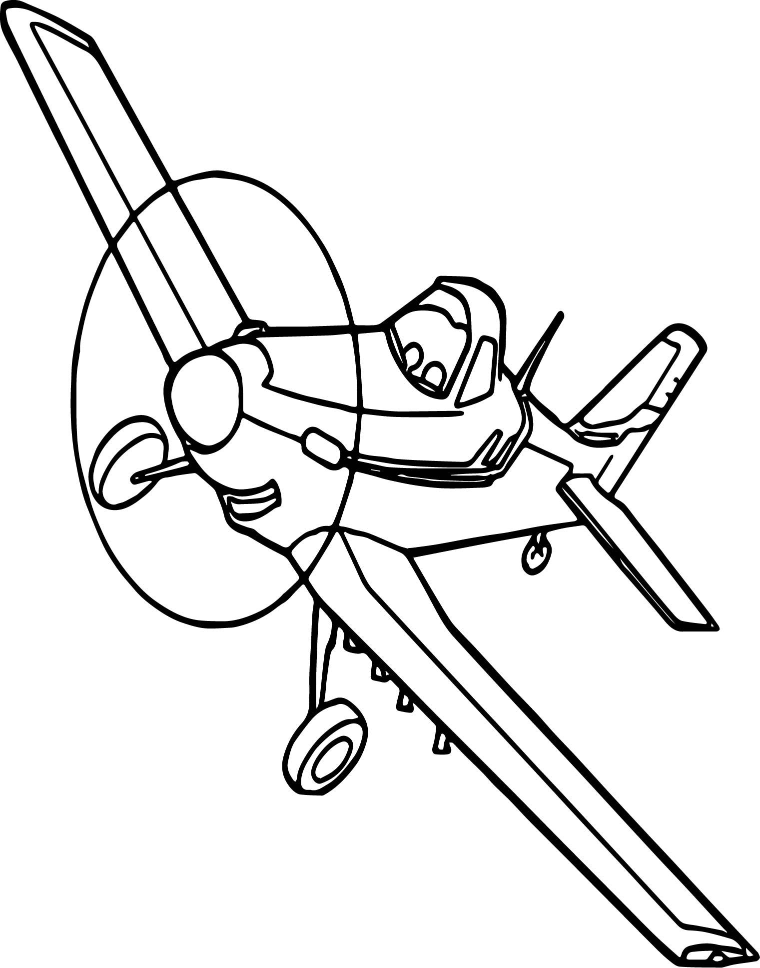 Awesome Disney Dusty Plane Coloring Pages