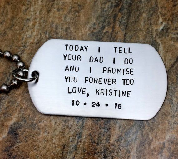 Wedding Vow Ideas For Groom: Step Son Wedding Gift Groom's Son Wedding Day By