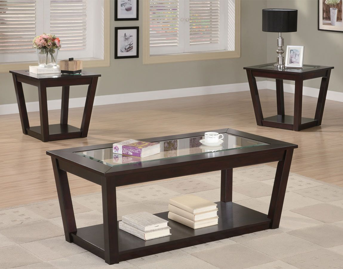 Coaster 701506 3 Piece Occasional Set Coffee Table With Chairs