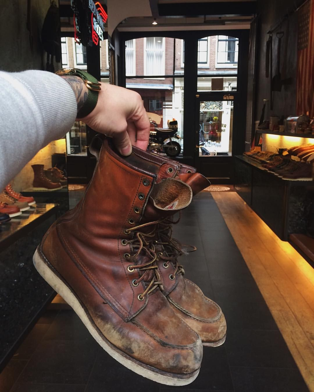 380e98dcbaf Marco his pair of Red Wing Shoes 877 Classic Moc Toe in Oro-legacy ...