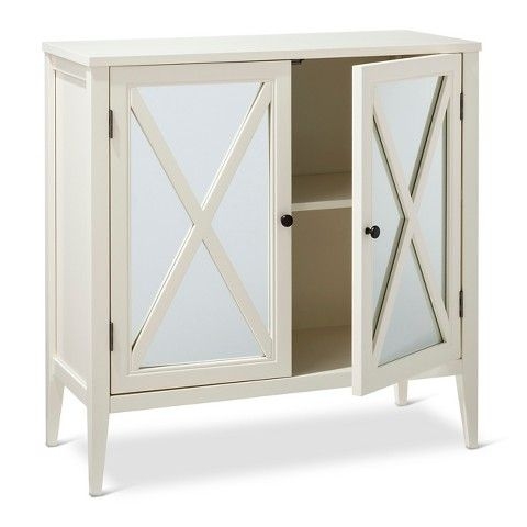 Wooddale 2 Door Accent Cabinet Threshold White