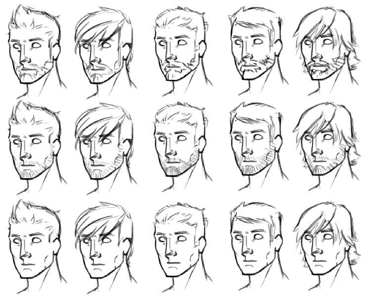 Hair Style References: Anime Boy Drawing - Google Search