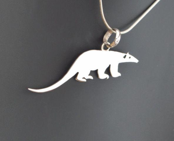 Sterling Silver Ant-eater Pendant