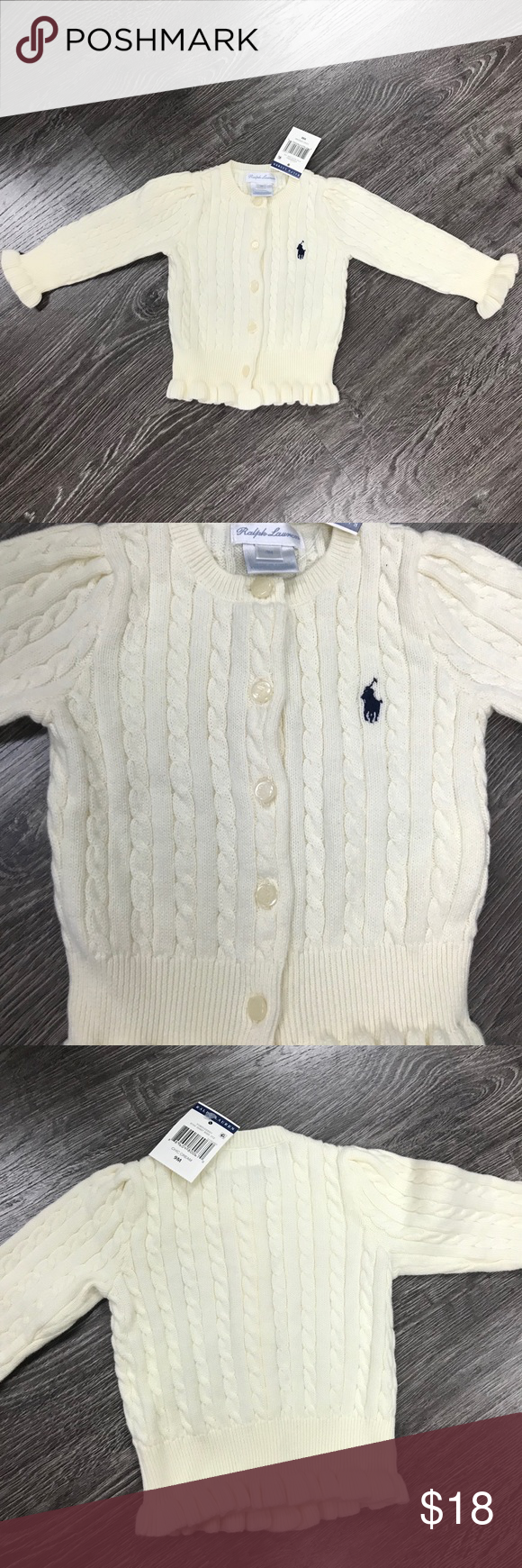 4c9624b2e NWT Ralph Lauren baby girl cable knit sweater NWT in 2018