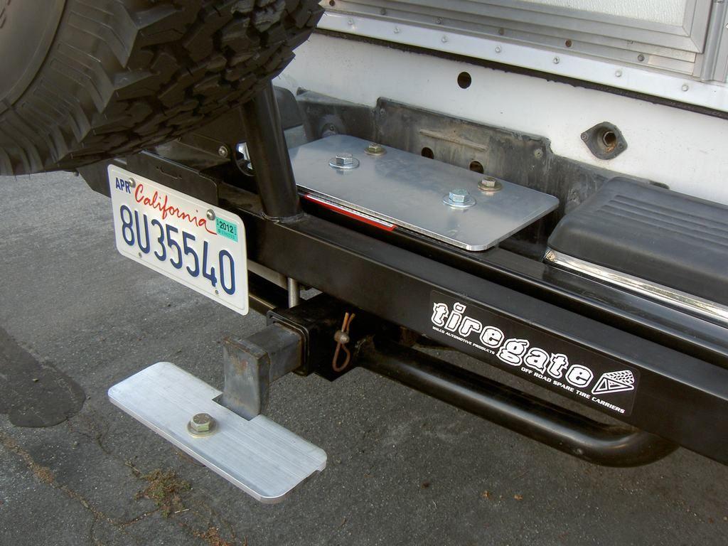 Hitch step on a Ford F250 & Northstar TC650 Dodge ram