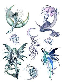 tribal fairy tattoo designs google search tattoos pinterest ideer. Black Bedroom Furniture Sets. Home Design Ideas