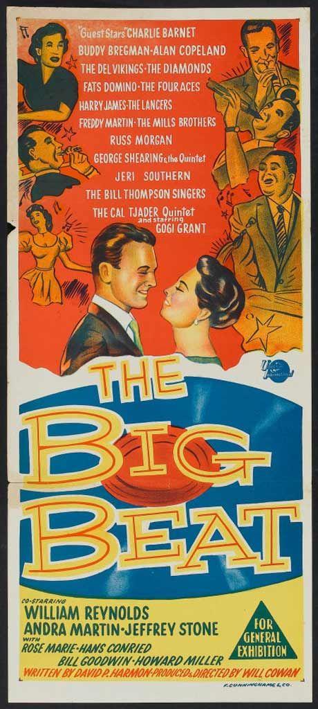 The Big Beat (1958) starring William Reynolds, Andra Martin & Jeffrey Stone    Lobby cards, Movie memorabilia, Vintage movies