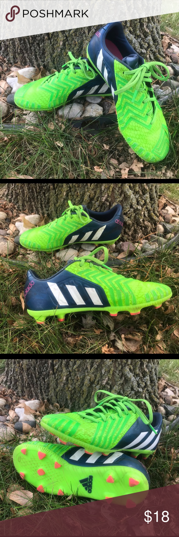 Youth size 4 Adidas soccer cleats