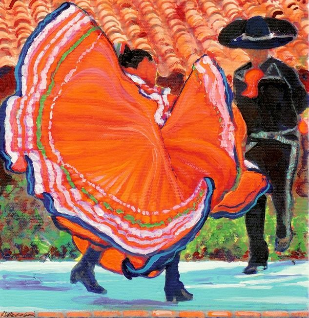 """Mexican Dance Old Town San Diego"" by RD Riccoboni Old"