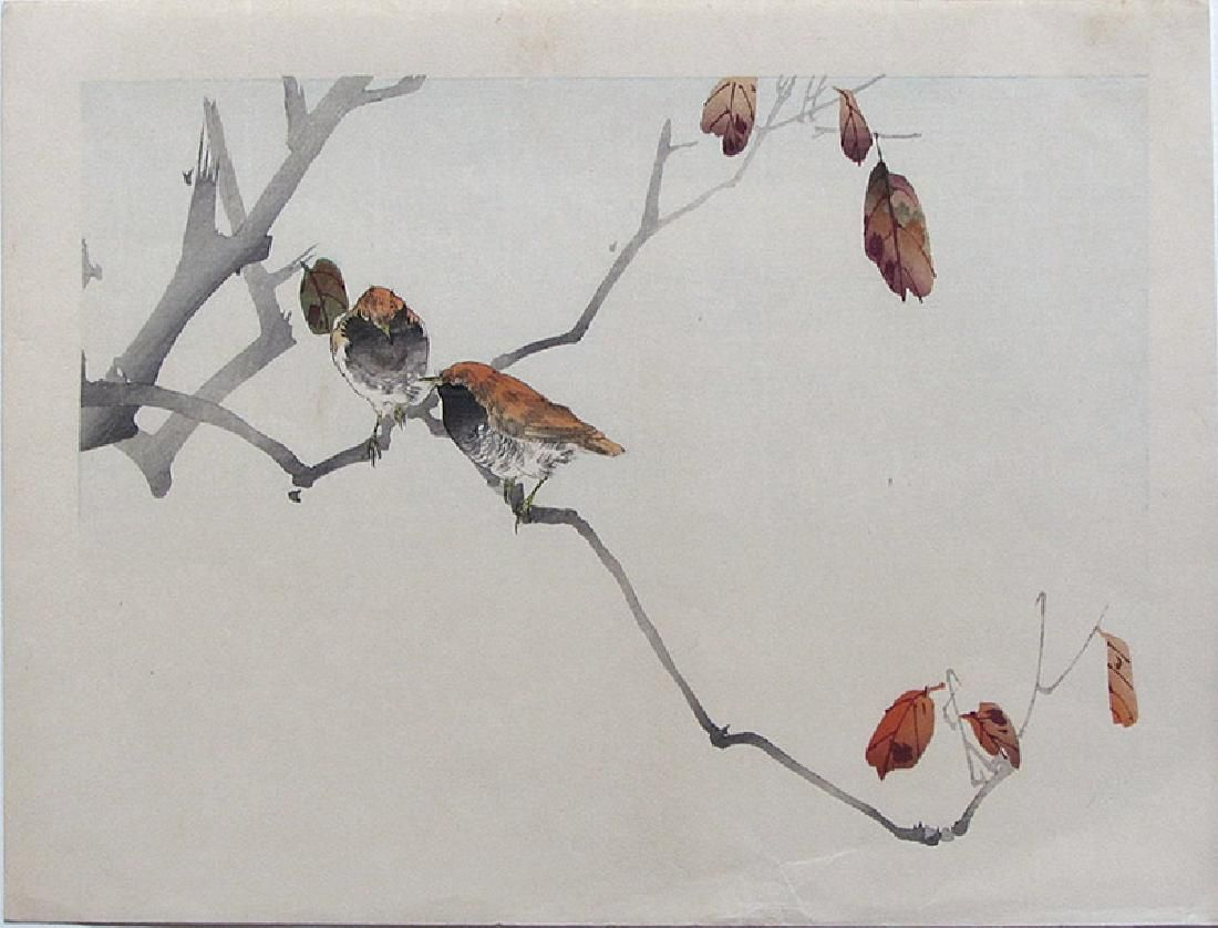 Artist Watanabe Seitei Subject Birds On A Branch Signature