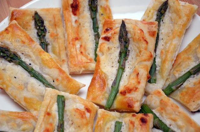 Asparagus pastries // ajatuksiasaksasta.blogspot.com