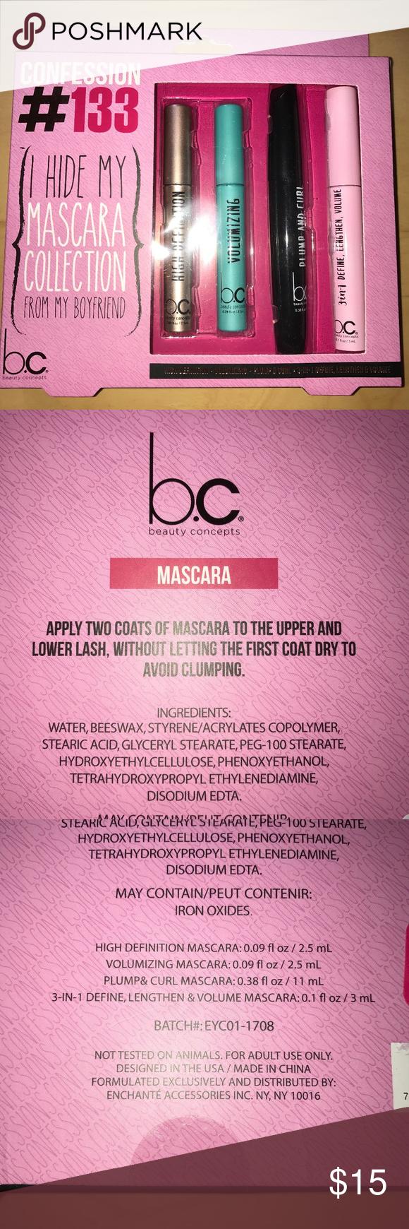 BNIP Beauty Concepts (b.c.) Mascara Set of 4! NWT