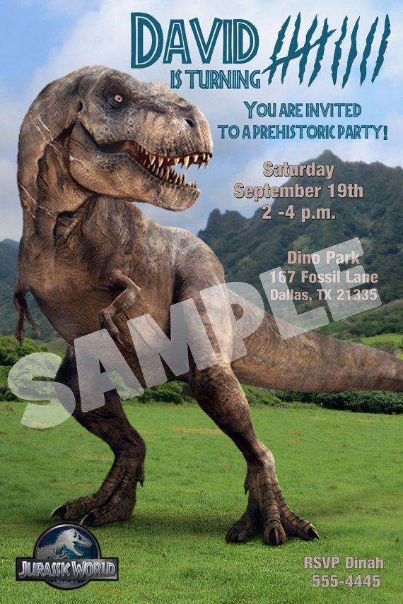 Jurassic World Birthday Invitation Jurassic Park Party Invitation