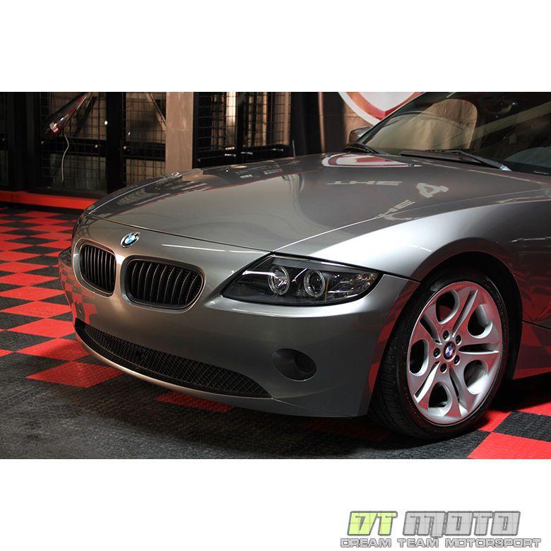 Bmw Z4 Black: Black 2003-2008 BMW Z4 Dual LED Halo Projector Headlights