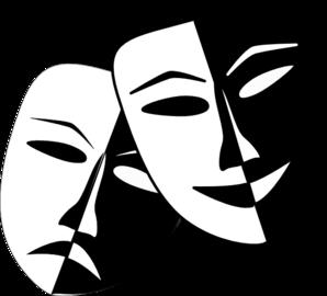 Theatre Masks Clip Art Drama Masks Theatre Masks Comedy And Tragedy