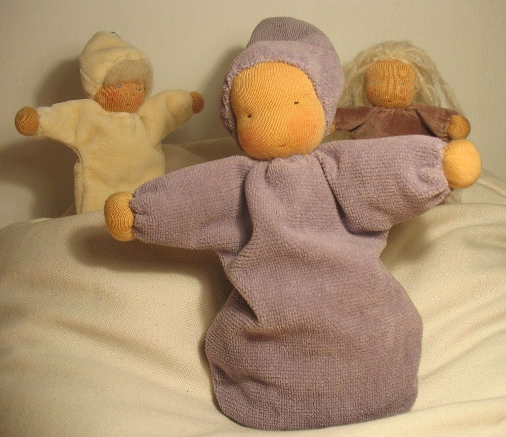 Night lights baby bunting - Lavender Baby Bunting Doll According To Waldorf Pedagogy