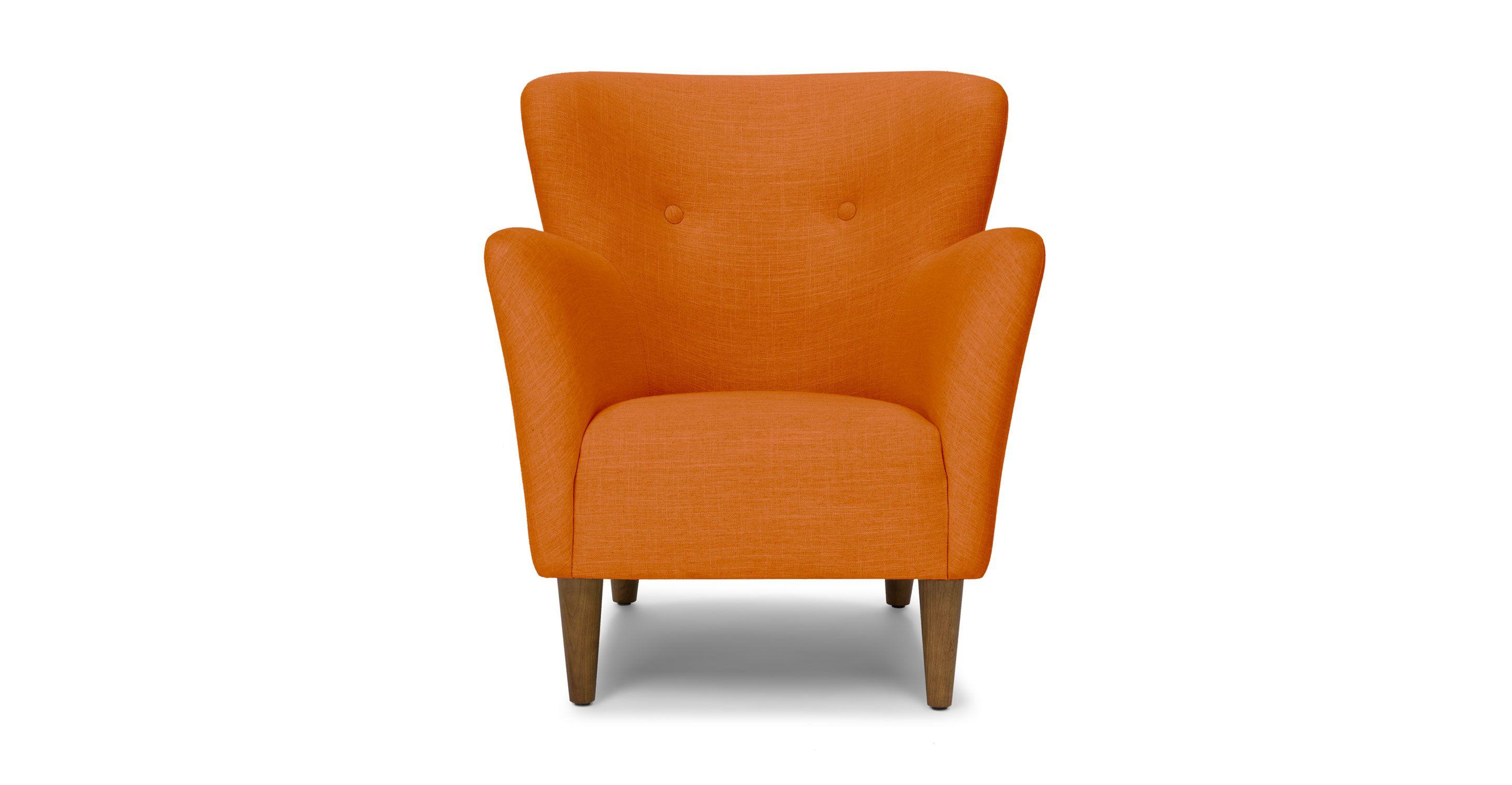 Happy Papaya Orange Armchair   Lounge Chairs   Article   Modern,  Mid Century And