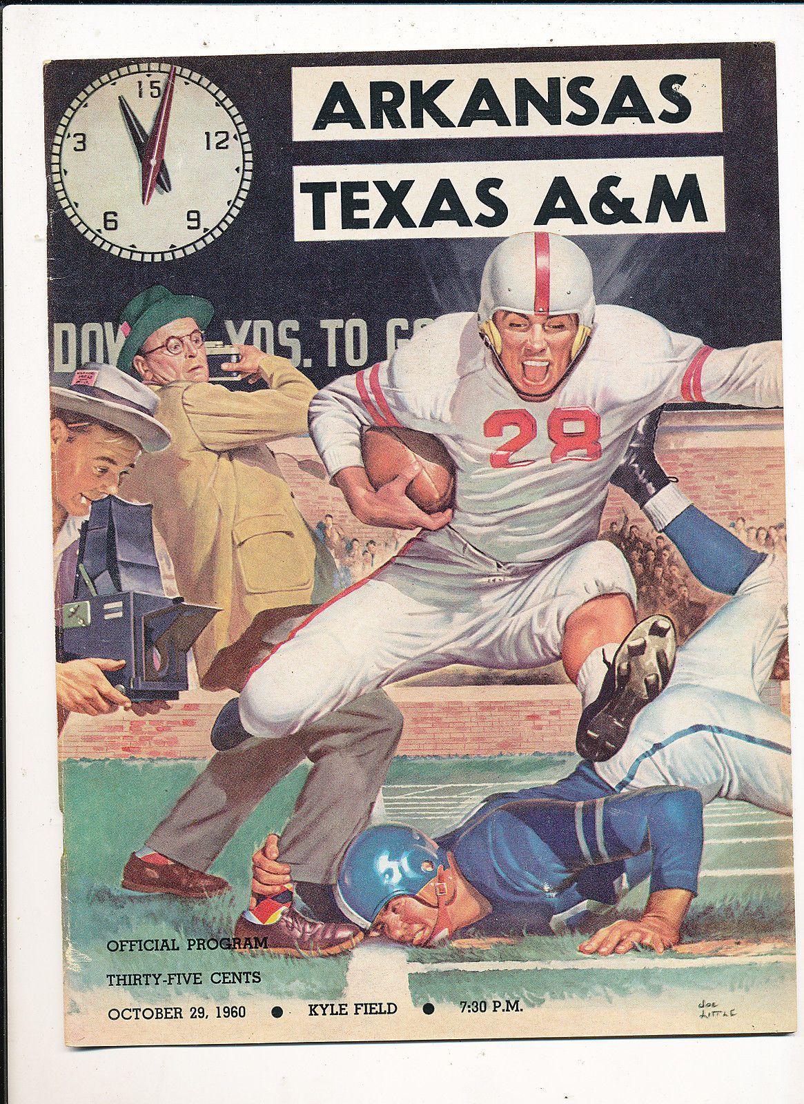 10/29 1962 football program em/nm Texas A&M vs Arkansas