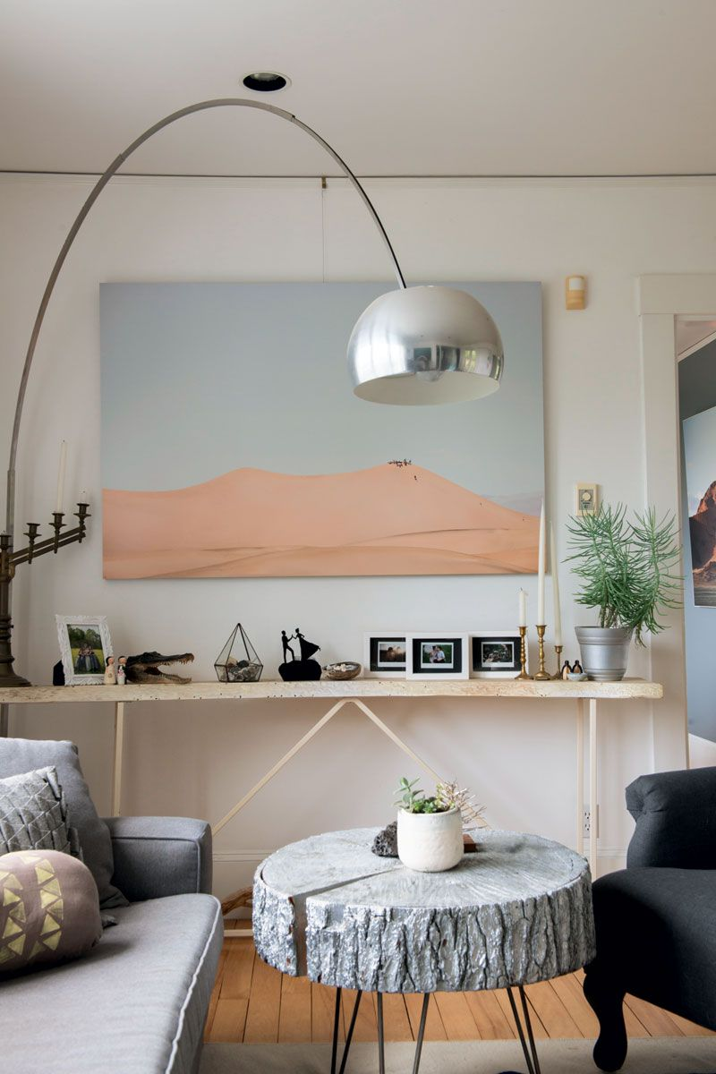 Tree Design Wallpaper Living Room: At Home With Jacob And Alissa Hessler Of Urban Exodus