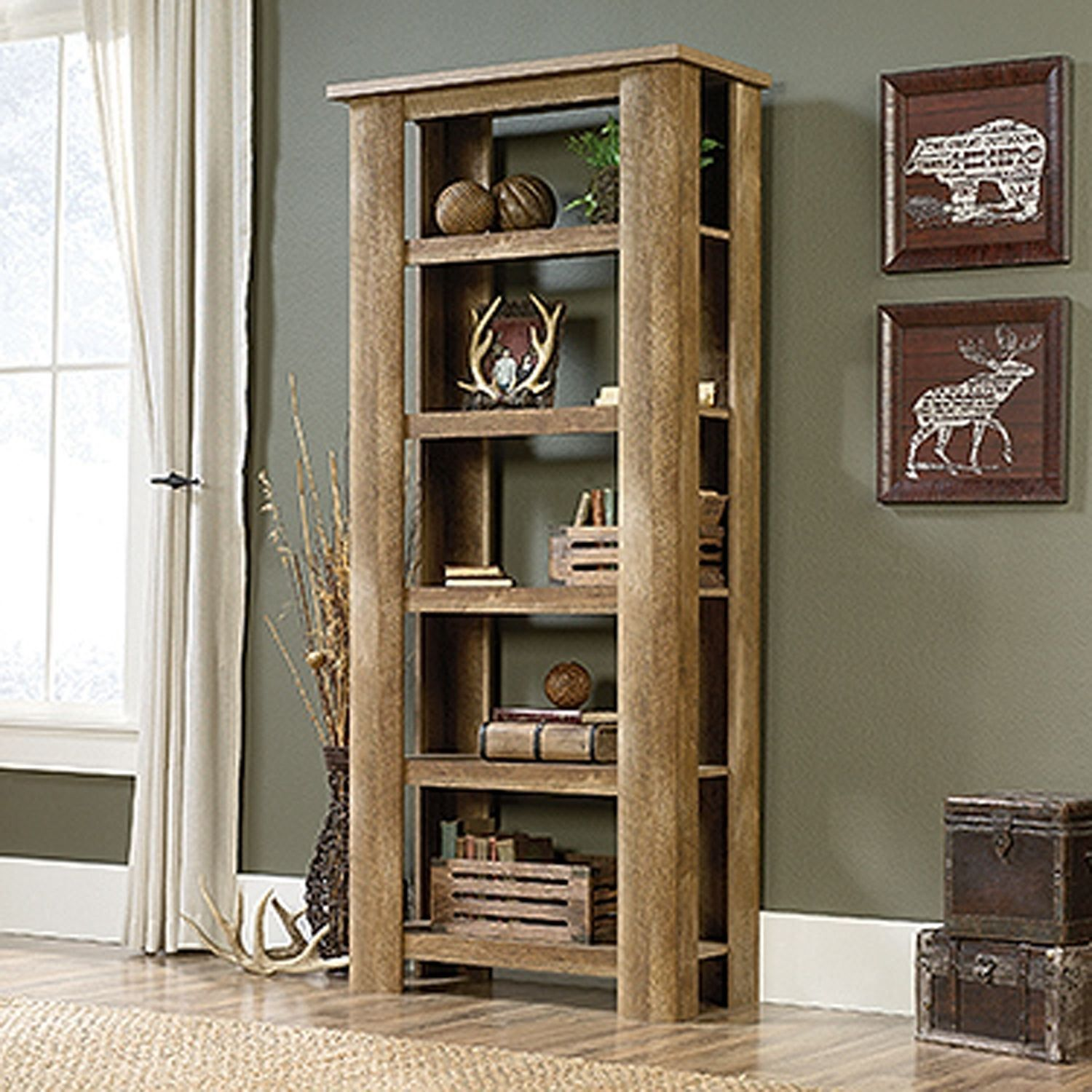 American Furniture Warehouse Bookcases: Boone Mountain Bookcase Craftsman Oak * D In 2020
