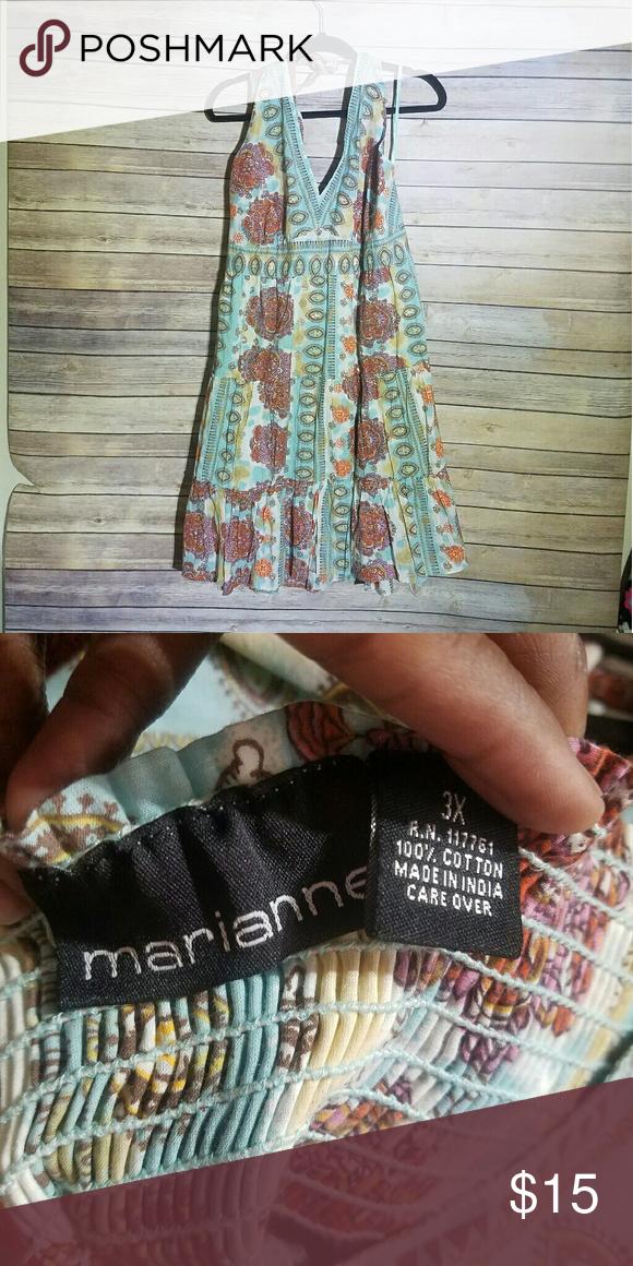 ❤SALE❤PLUS SIZE Halter Dress Like new 100% Cotton Dresses