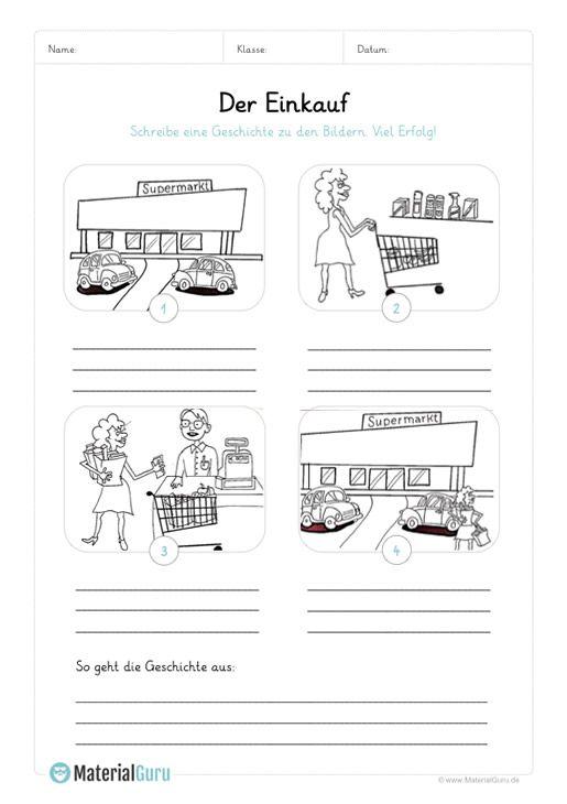 ein kostenloses arbeitsblatt zum thema bildergeschichten auf dem die sch ler 4 bilder rund um. Black Bedroom Furniture Sets. Home Design Ideas