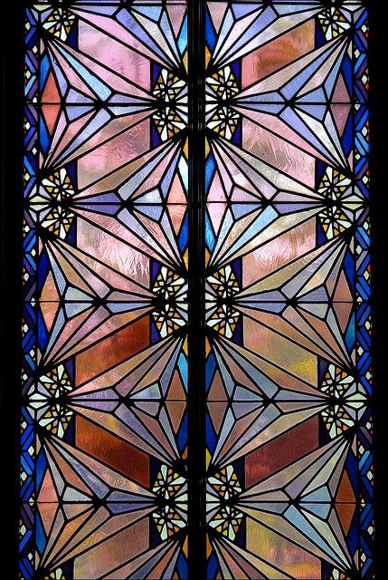 Art Deco Stained Glass, Tulsa  ♥ ♥
