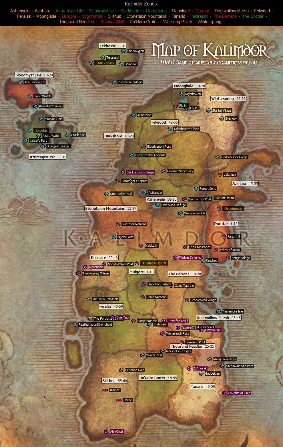 Kalimdor map from world of warcraft from wowmepressure kalimdor map from world of warcraft from wowmepressure gumiabroncs Gallery