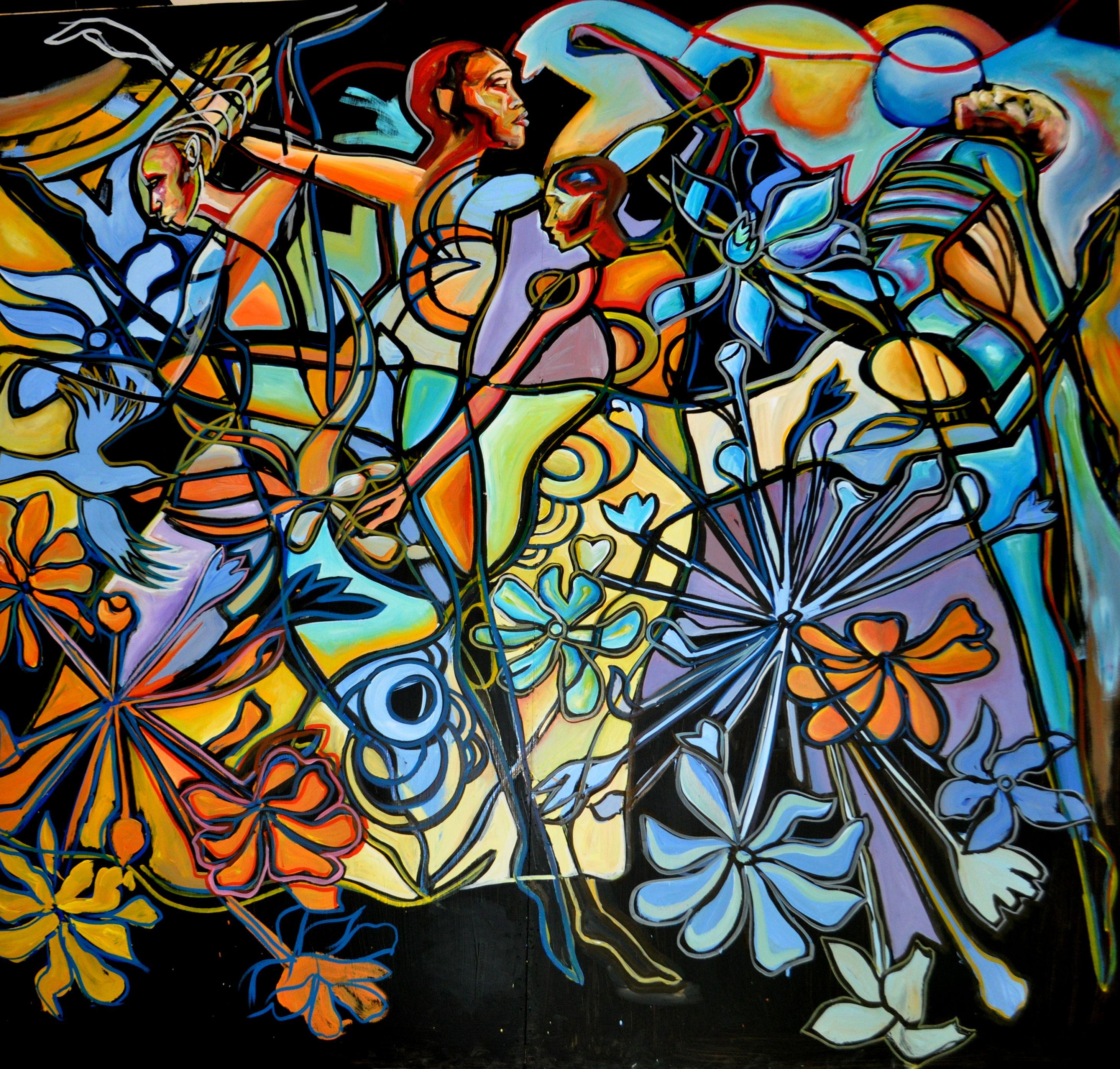 African american artist corey barksdale semiabstract art