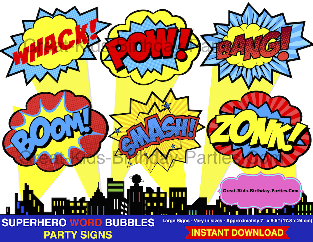 Free Superhero Printables – Planning a Superhero Party? Download ...