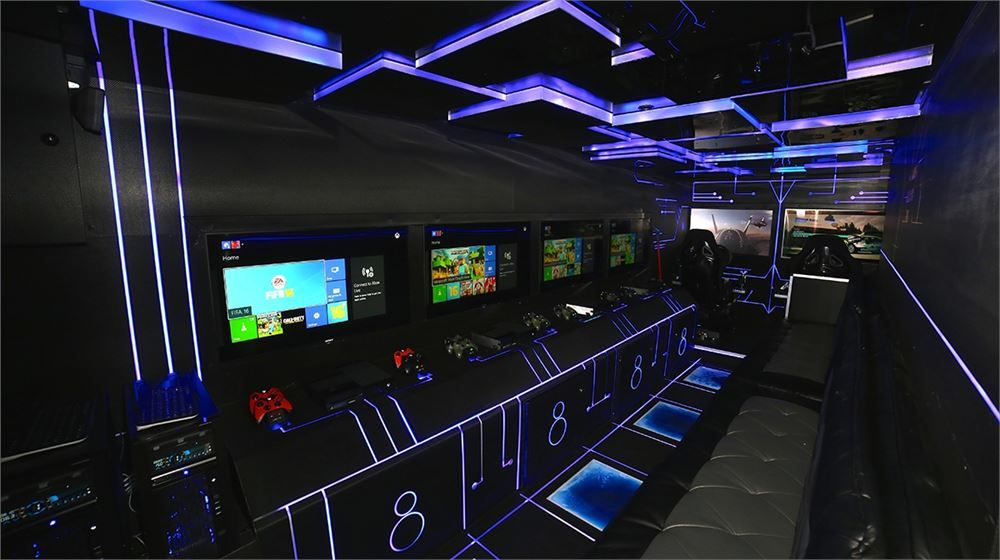 Call us at 8003541533 game bus video game truck buy