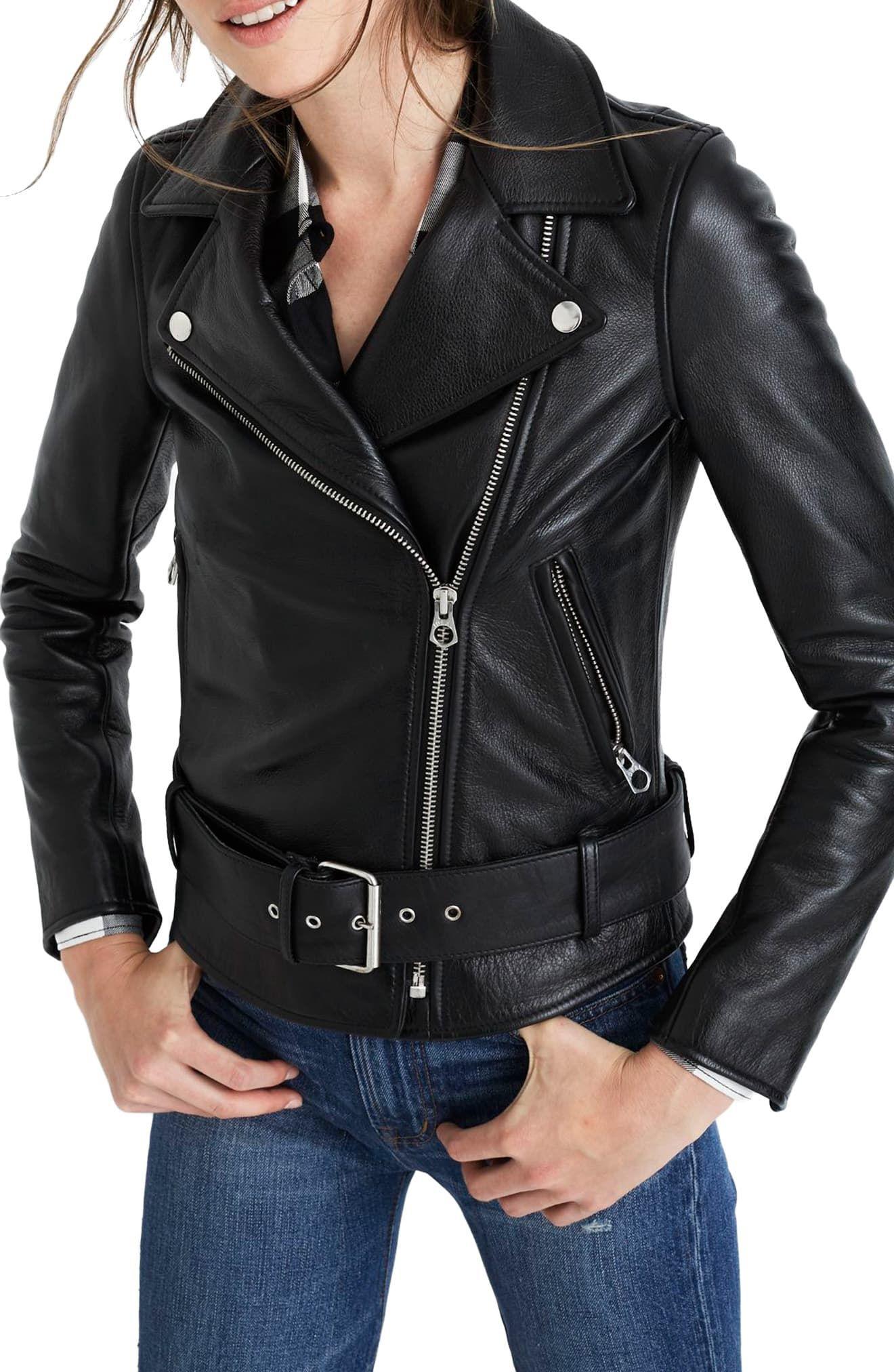 Women's Madewell Ultimate Leather Jacket, Size XLarge